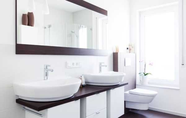 Ultra Modern Vanity, Sinks and Mirrors