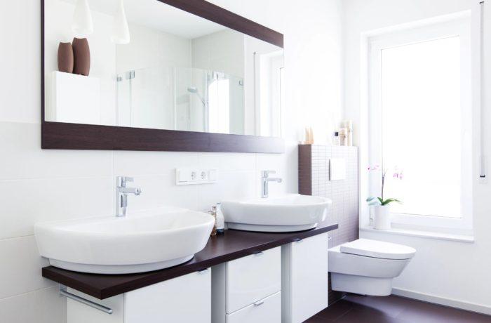 Ultra Modern Vanity, Sinks and Mirrors
