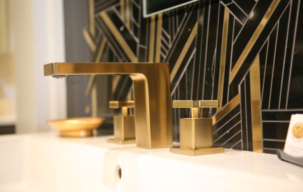 Stylish Brushed Brass Faucet