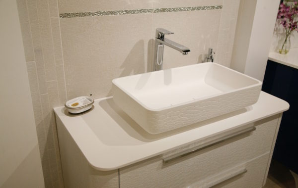 Egg Shell Modern Sink and Vanity
