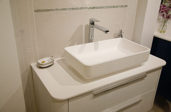 Egg Shell Modern Sink and Vanity