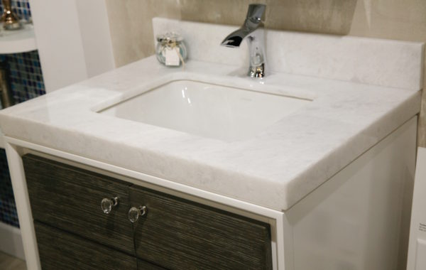 Contemporary White Sink with Vanity